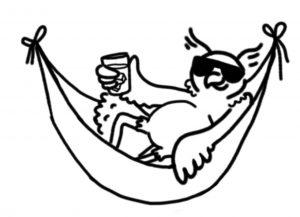 Sova relaxuje