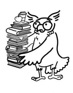 Sova PEF nese knihy