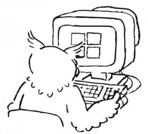Sova a počítač