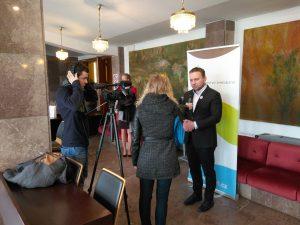 Akční tým PEF natáčí AT TV s ministrem Jurečkou