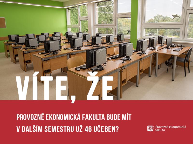 Provozně ekonomická fakulta bude mít 46 učeben; autor obrázku Patrik Hácha