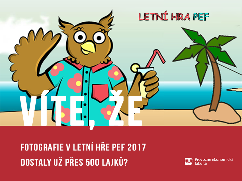 500 lajků v Letní hře PEF