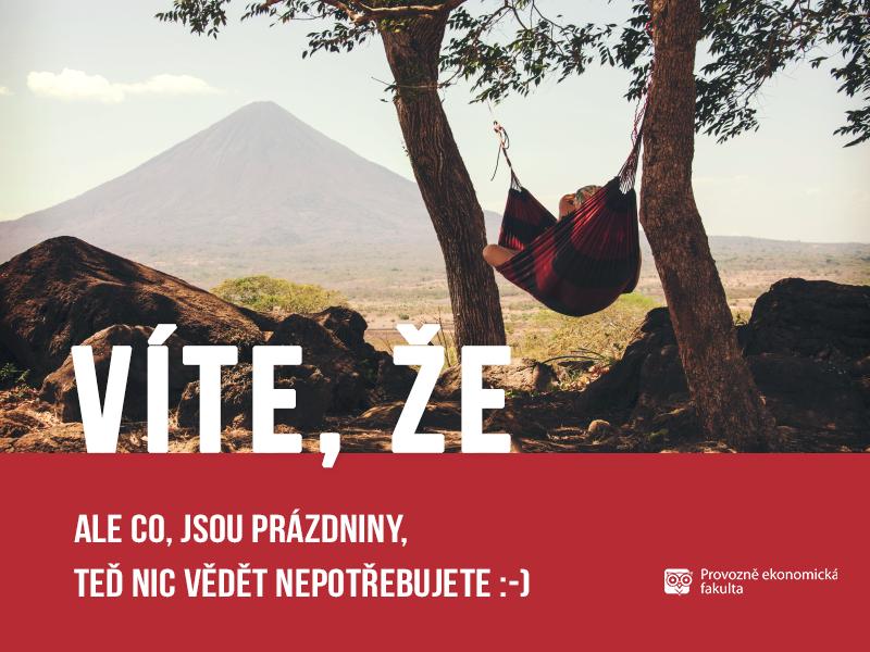 Prázdniny na Provozně ekonomické fakultě; autor obrázku Patrik Hácha