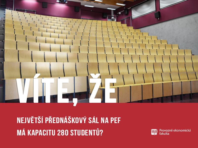 Kapacita 280 studentů v TI