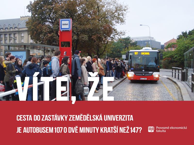 Autobusy na ČZU
