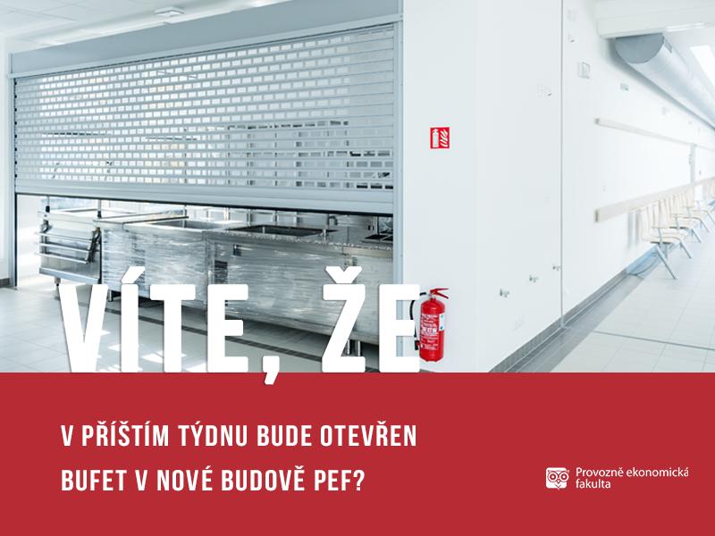 V nové budově Provozně ekonomické fakulty bude nový bufet - Hodně dobré jídlo; autor obrázku Patrik Hácha