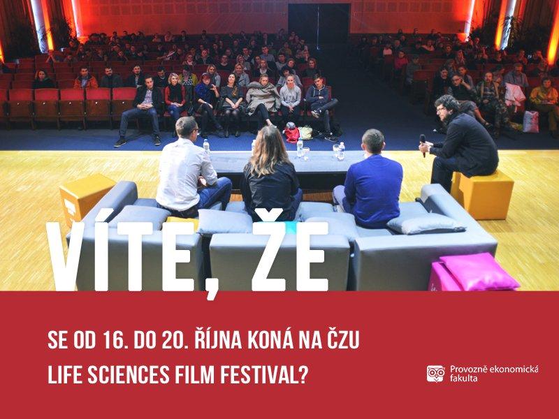 Na České zemědělské univerzitě se koná Life Sciences Film festival; autor obrázku Ondřej Fátor