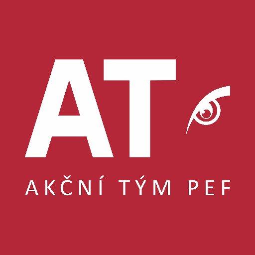 Akční tým PEF logo - AT logo červené