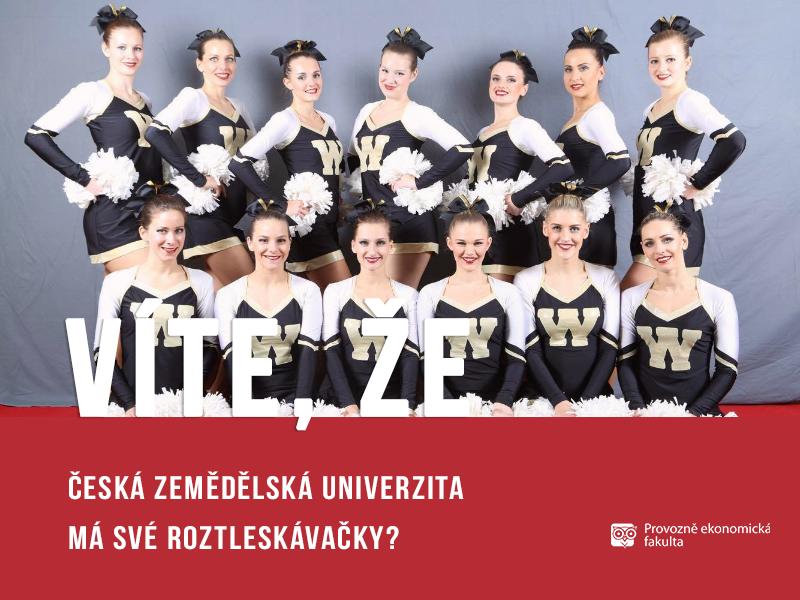 Česká zemědělská univerzita má své rozleskávačky - Wild Cheerleaders;autor obrázku Patrik Hácha