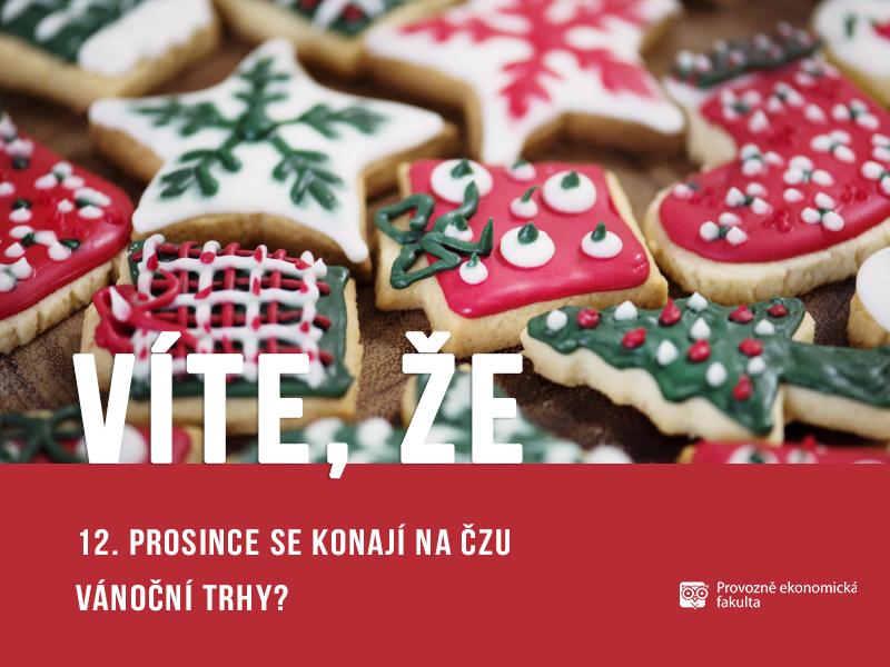 Na České zemědělské univerzitě se konají vánoční trhy;autor obrázku Patrik Hácha