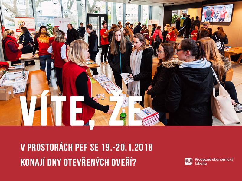 Na Provozně ekonomické fakultě se konají Dny otevřených dveří;autor obrázku Patrik Hácha