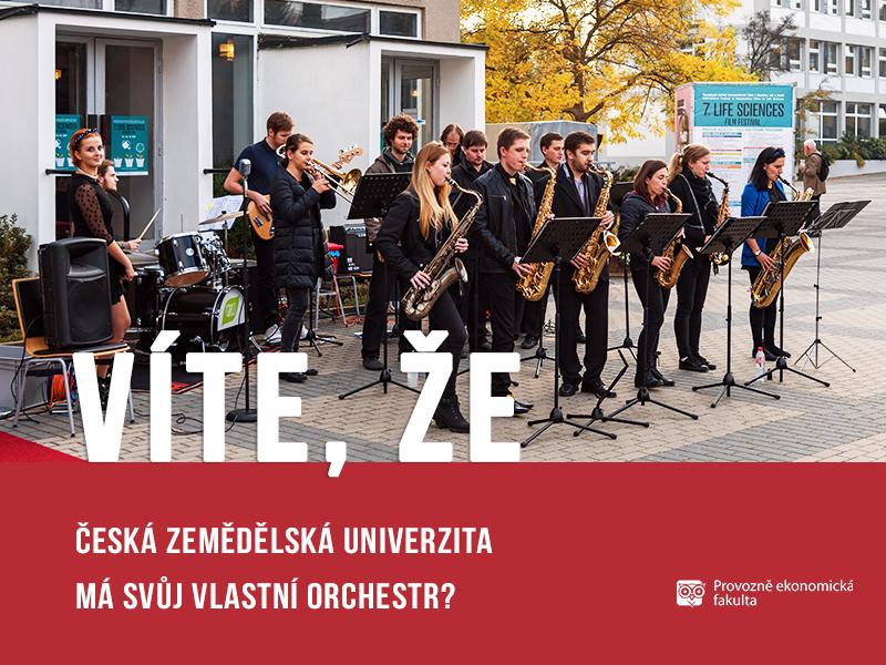 Česká zemědělská univerzita má svůj orchestr - ČZU Life Orchestra;autor obrázku Patrik Hácha