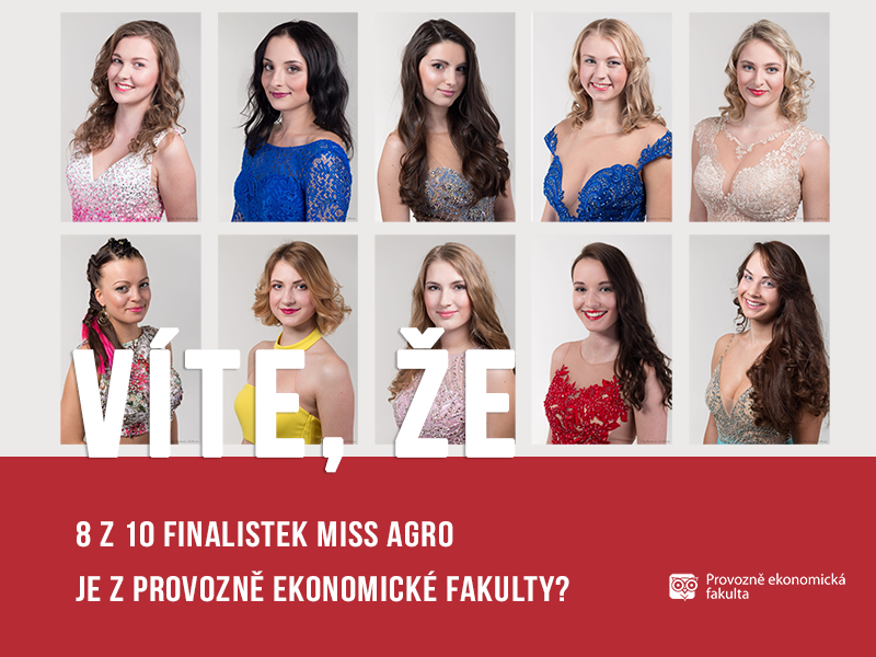 Finalistky Miss Agro z PEF