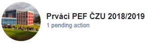 Prváci PEF ČZU 2018/19