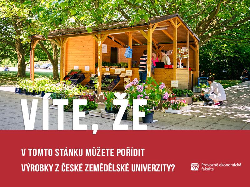 stánek svýrobky ČZU;autor Patrik Hácha