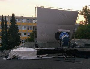 Natáčení - střecha Atria PEF