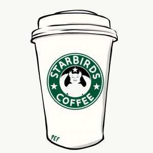 káva starbirds coffee; autor obrázku Míša Bochňáková