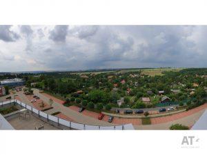 Vyhlídka 180° ze střechy ČZU směrem na Prahu
