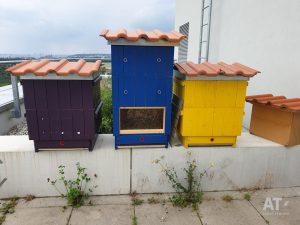 Včelí úly na střeše ČZU